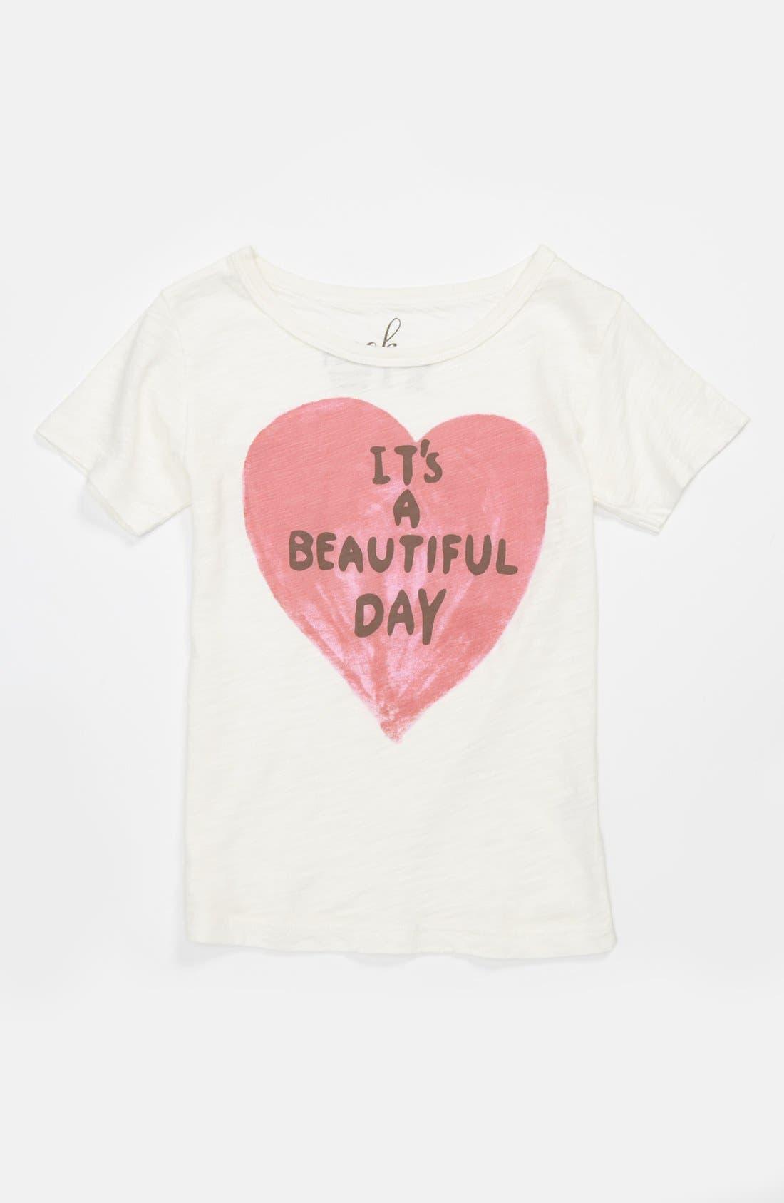 Alternate Image 1 Selected - Peek 'Beautiful Day' Tee (Toddler Girls, Little Girls & Big Girls)