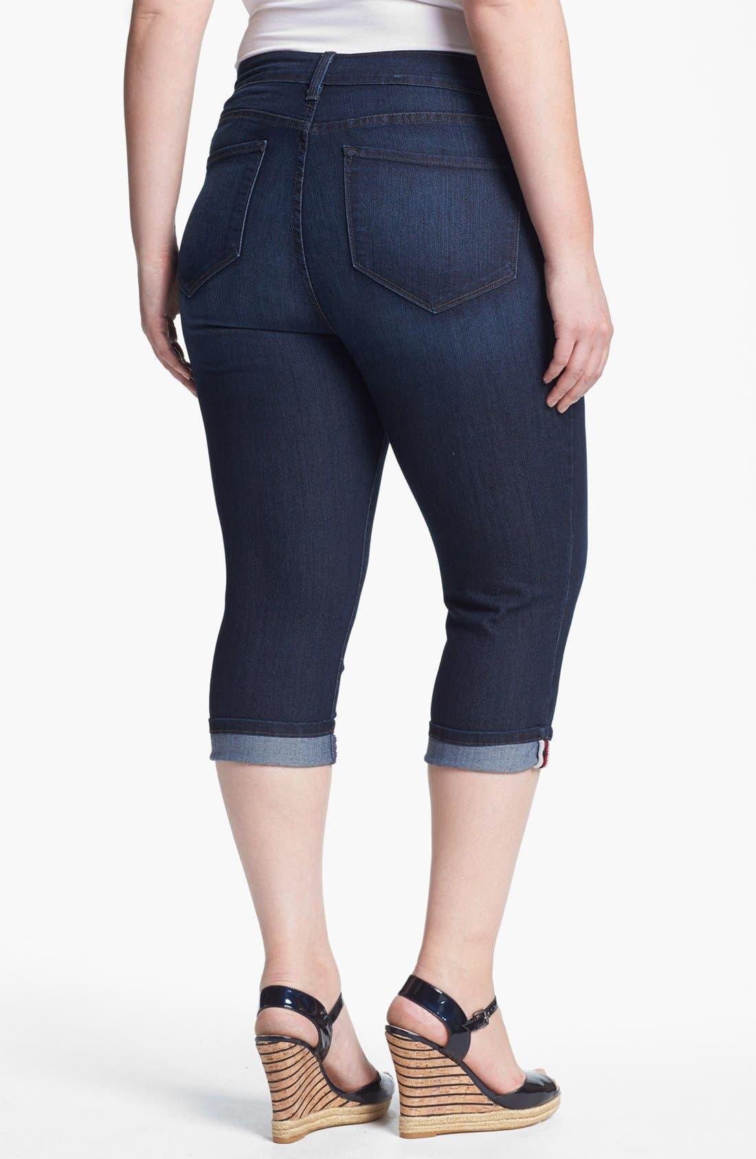 Alternate Image 2  - NYDJ 'Edna' Cuff Crop Jeans (Plus Size)