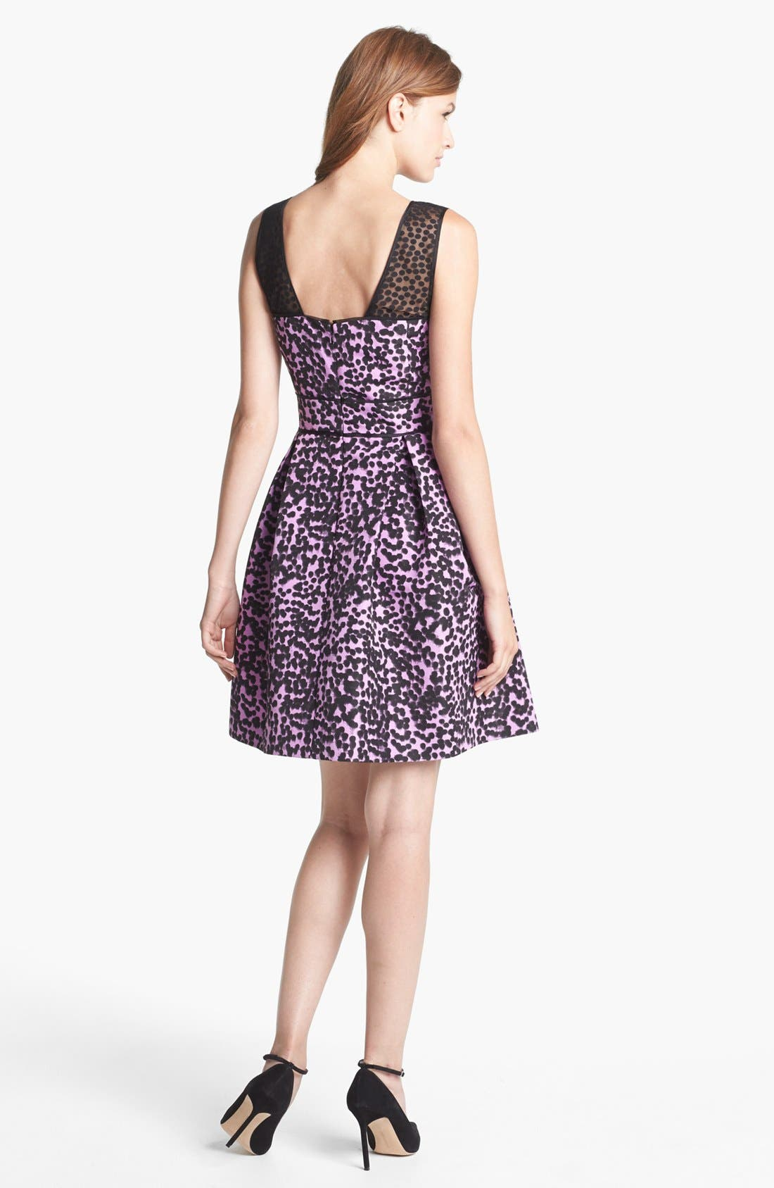 Alternate Image 2  - Taylor Dresses Print Fit & Flare Dress
