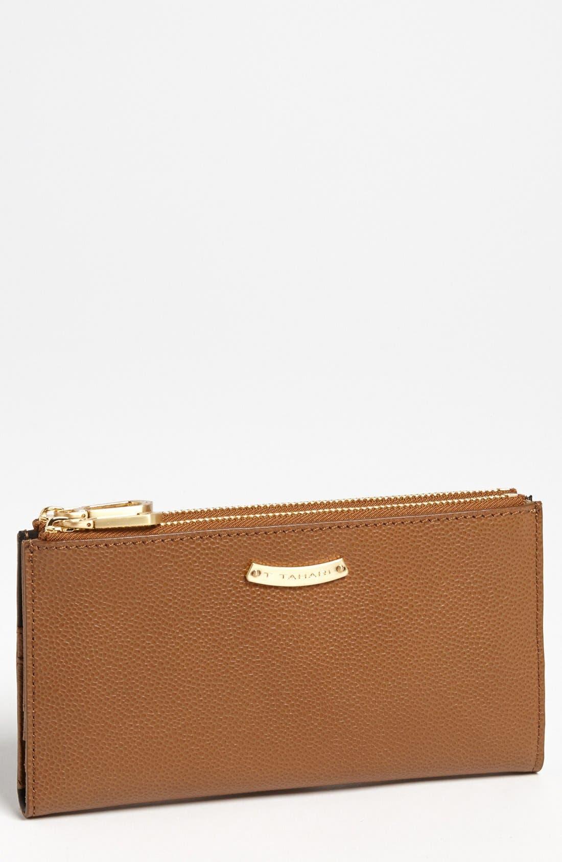 Main Image - T Tahari Double Zip Wallet, Large