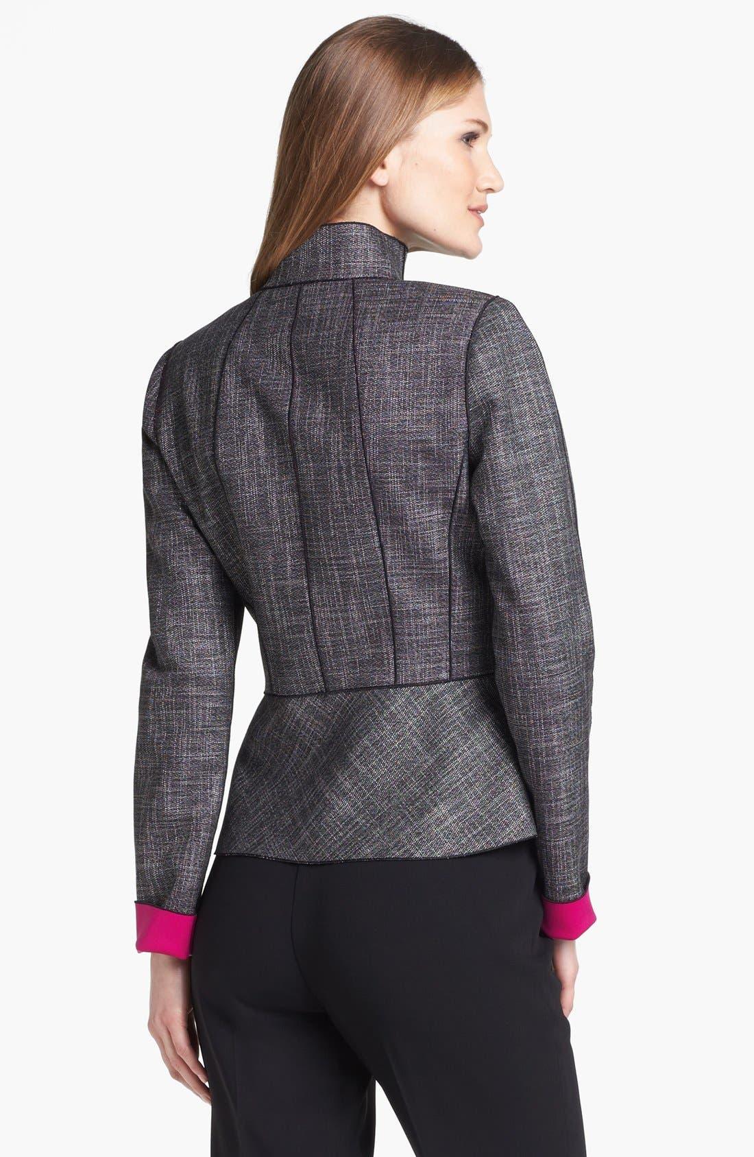 Alternate Image 2  - Lafayette 148 New York 'Amanda - Convex Cloth' Jacket