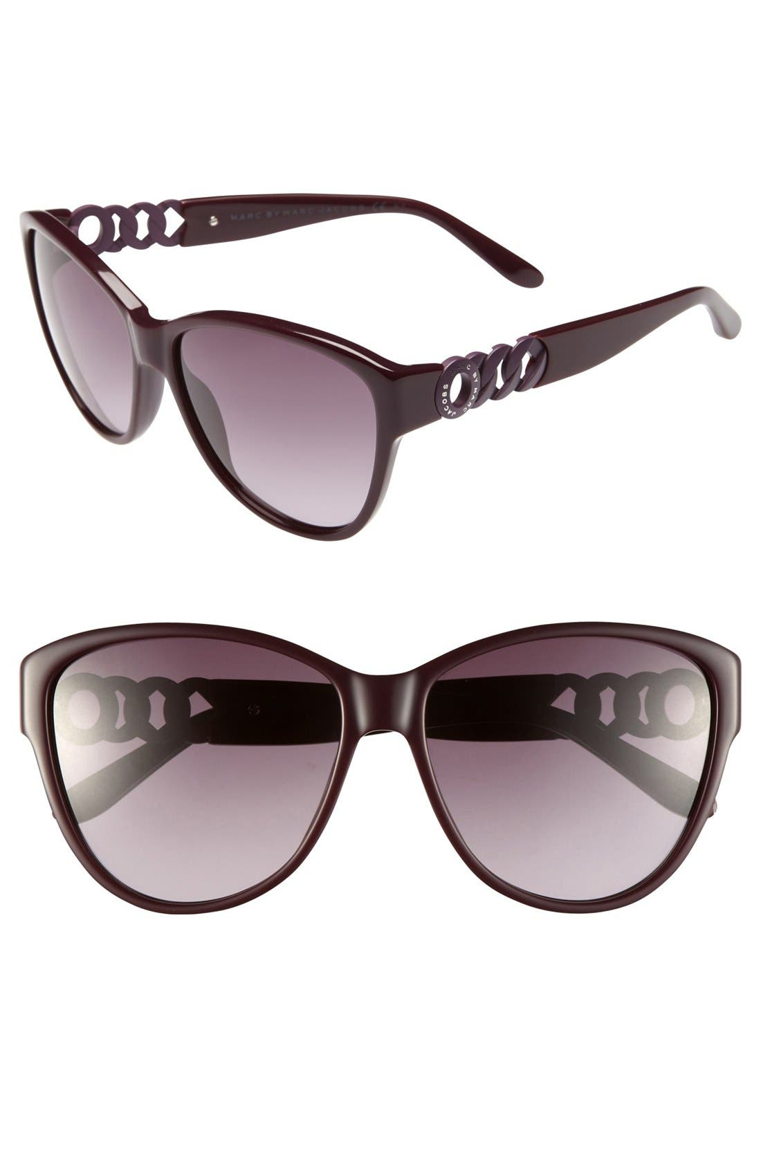 Main Image - MARC BY MARC JACOBS 58mm Retro Sunglasses