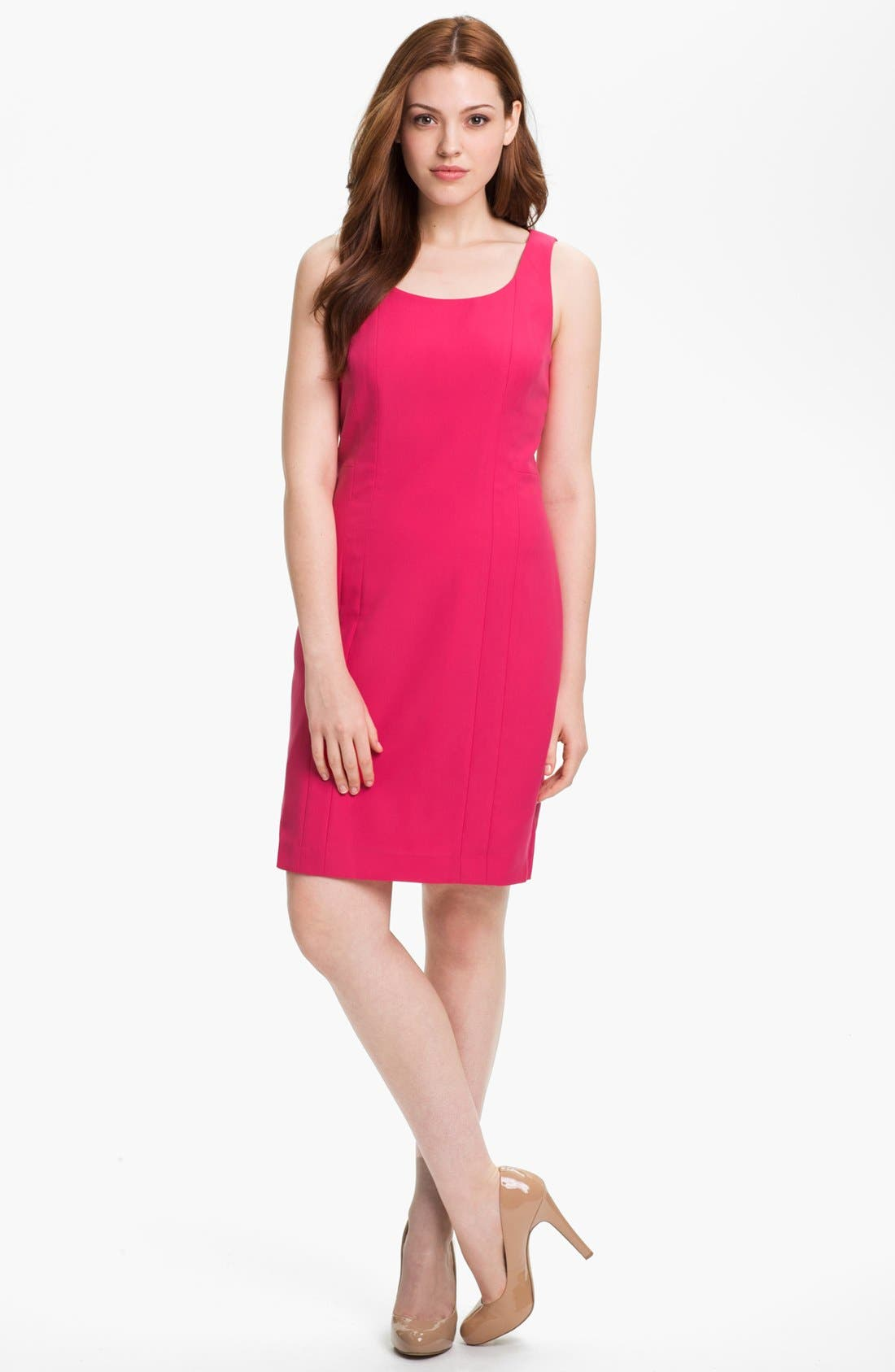 Alternate Image 1 Selected - Halogen® Seamed Sheath Dress (Petite)