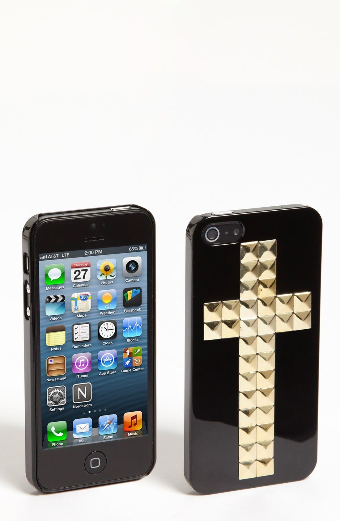 Main Image - Natasha Couture 'Stud Cross' iPhone 5 Case