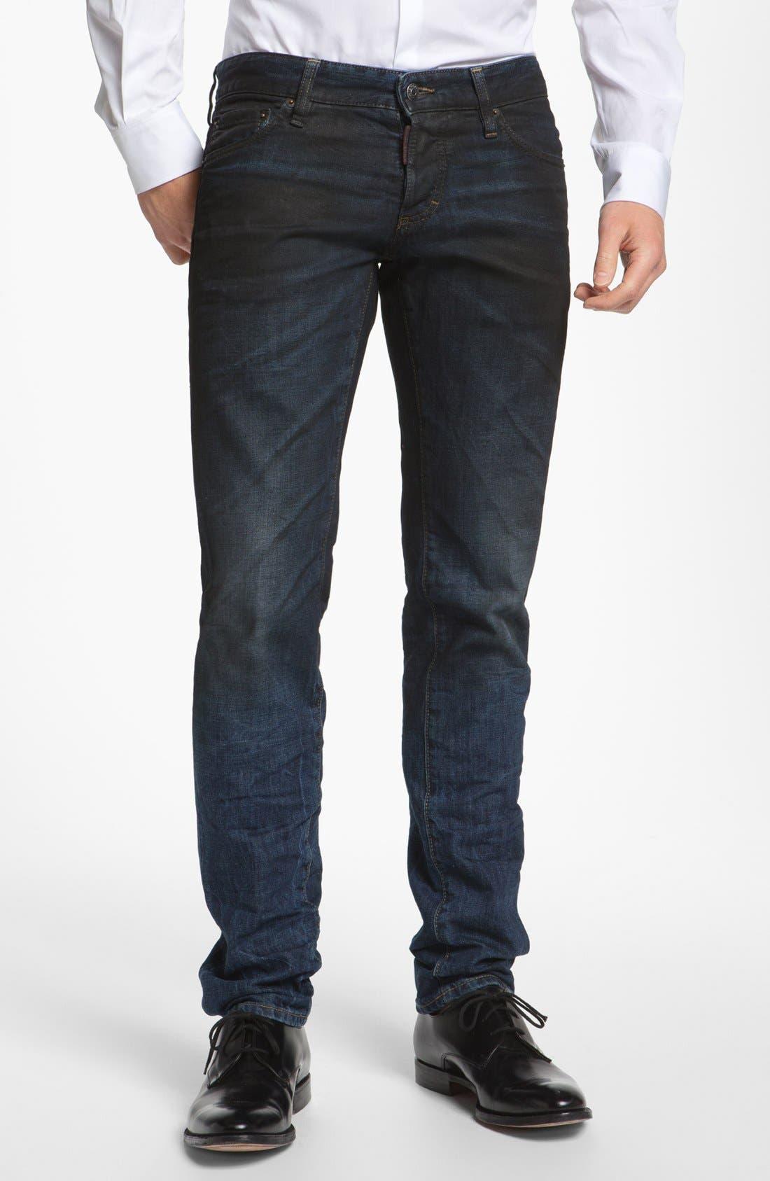Alternate Image 1 Selected - Dsquared2 Slim Fit Jeans (Blue)