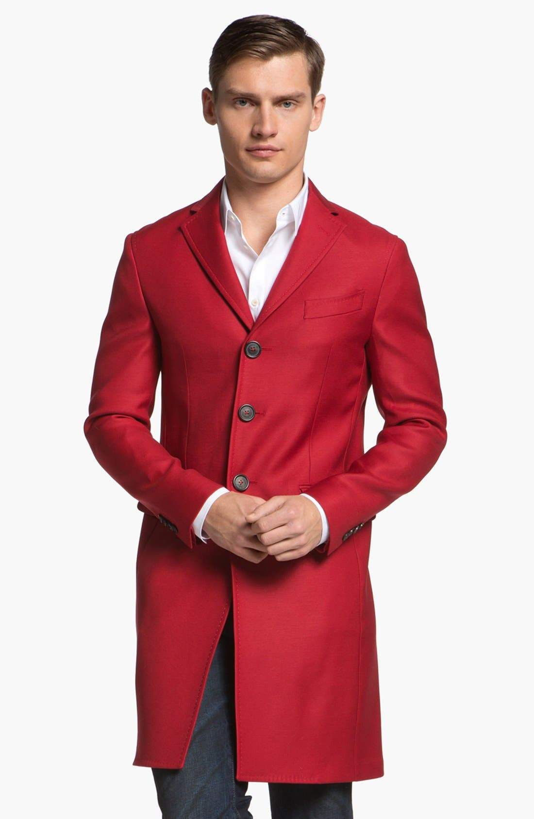 Alternate Image 1 Selected - Dsquared2 Three Button Overcoat