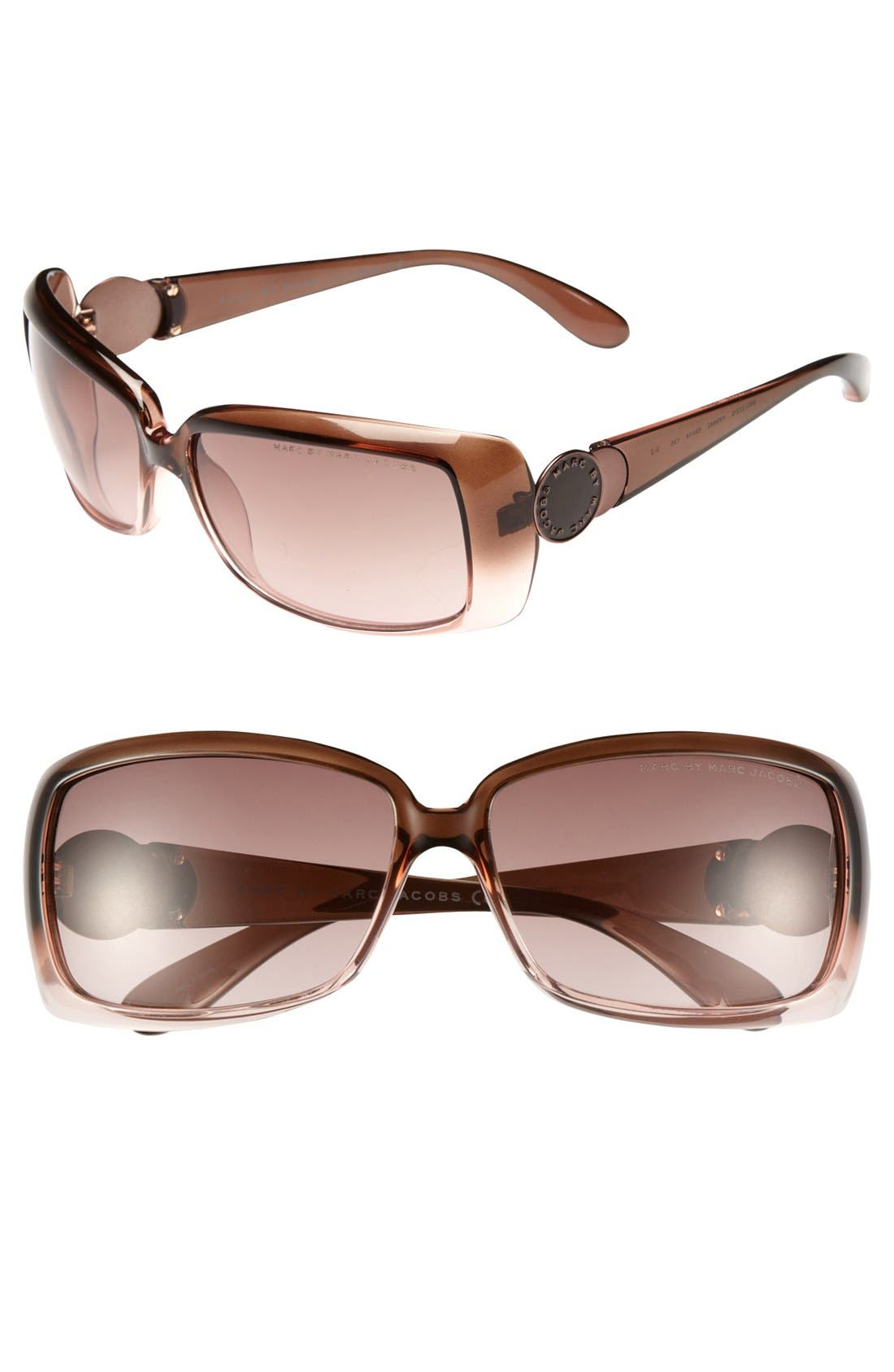 Alternate Image 1 Selected - MARC BY MARC JACOBS 59mm Rectangular Sunglasses