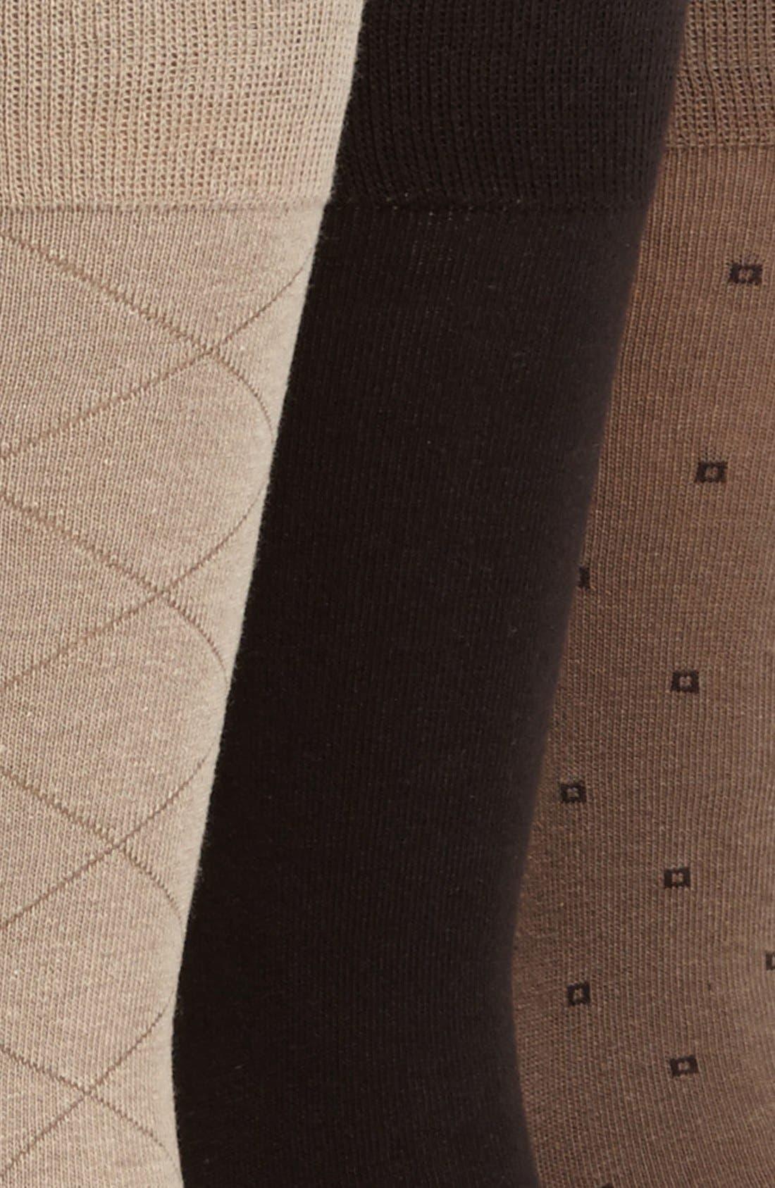 Alternate Image 2  - Calvin Klein 3-Pack Patterned Socks