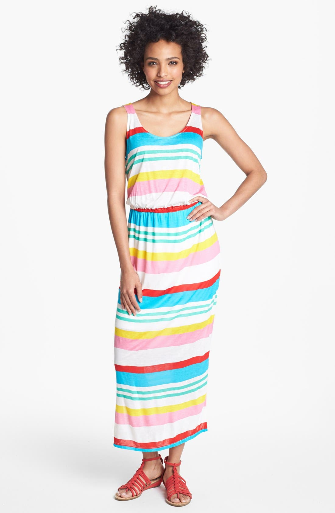 Main Image - Olivia Moon Multi Stripe Maxi Dress