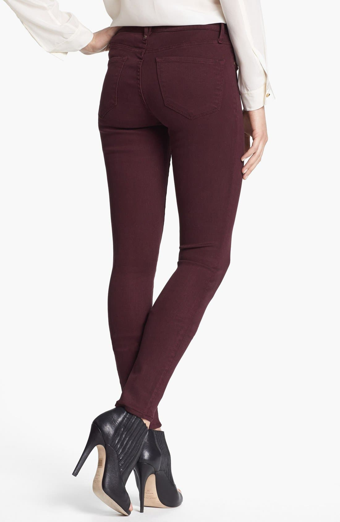 Alternate Image 2  - MARC BY MARC JACOBS 'Stick' Colored Skinny Stretch Jeans (Wine Tasting)