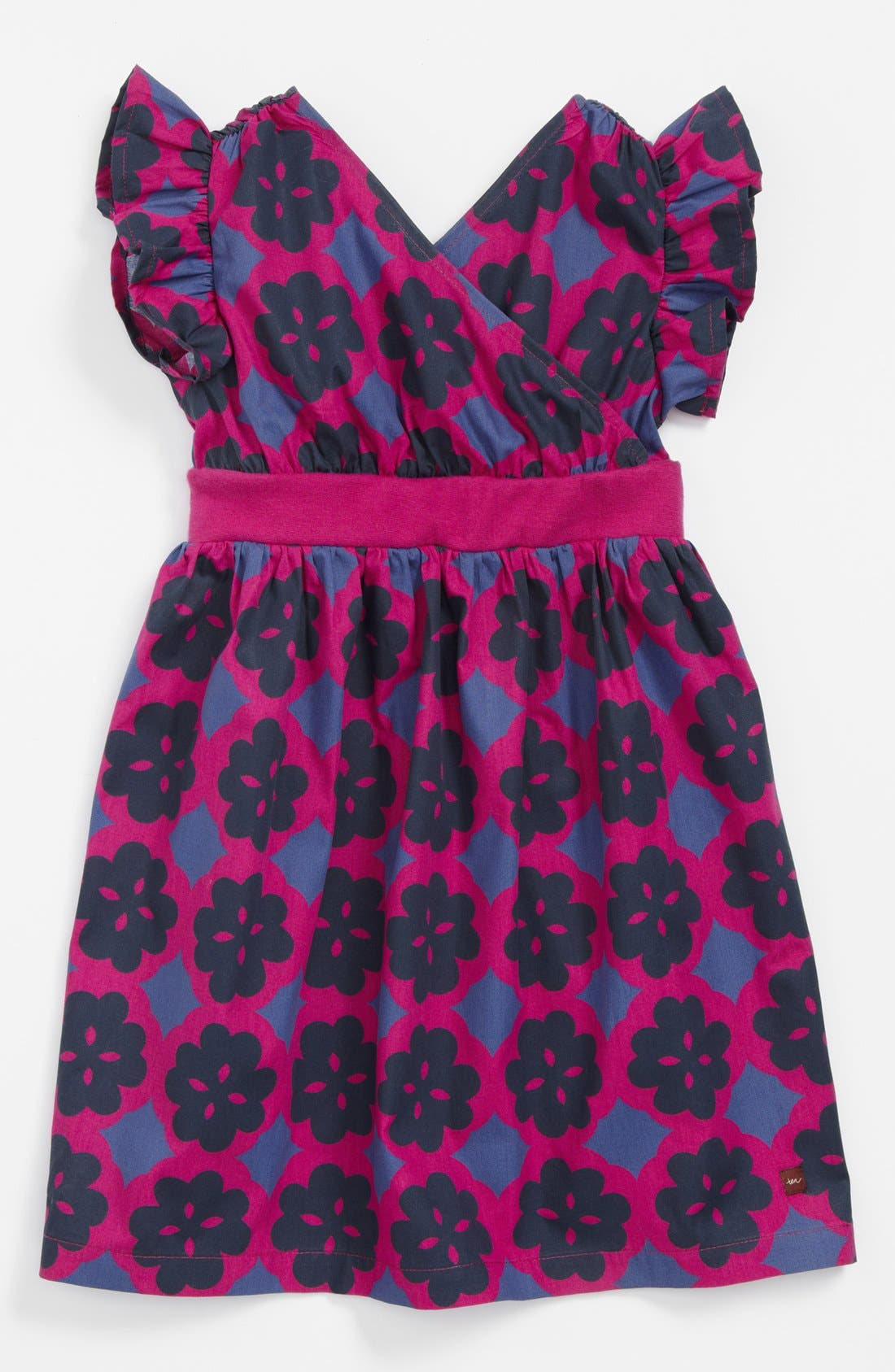 Main Image - Tea Collection Floral Flutter Sleeve Woven Dress (Baby Girls) (Online Only)