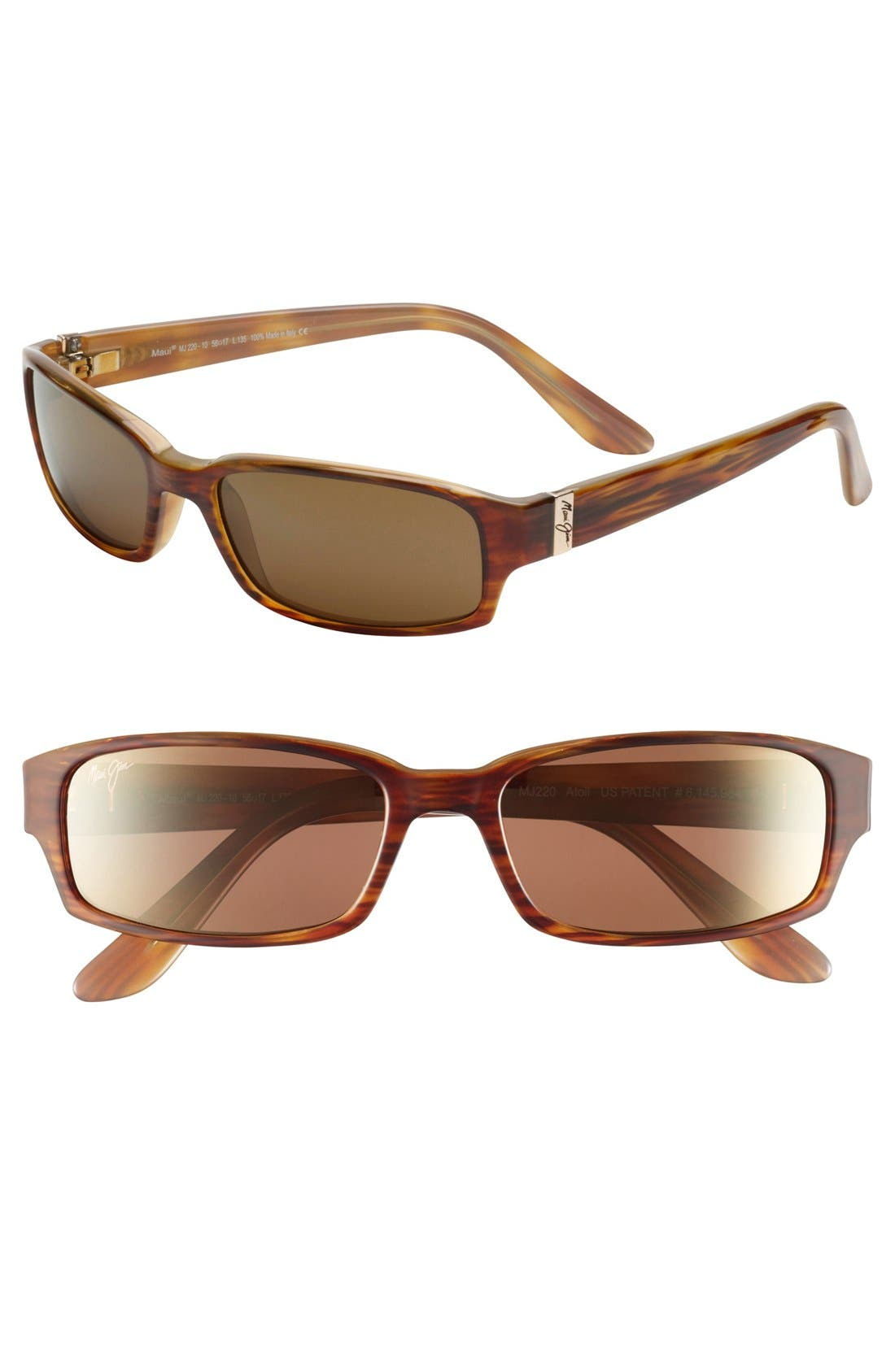 Atoll 56mm PolarizedPlus2<sup>®</sup> Sunglasses,                             Main thumbnail 1, color,                             Tortoise