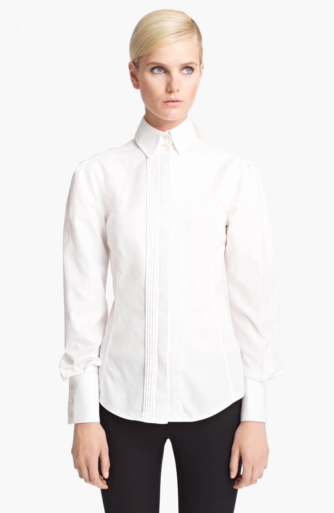 Alternate Image 1 Selected - Jason Wu Pintuck Twill Blouse