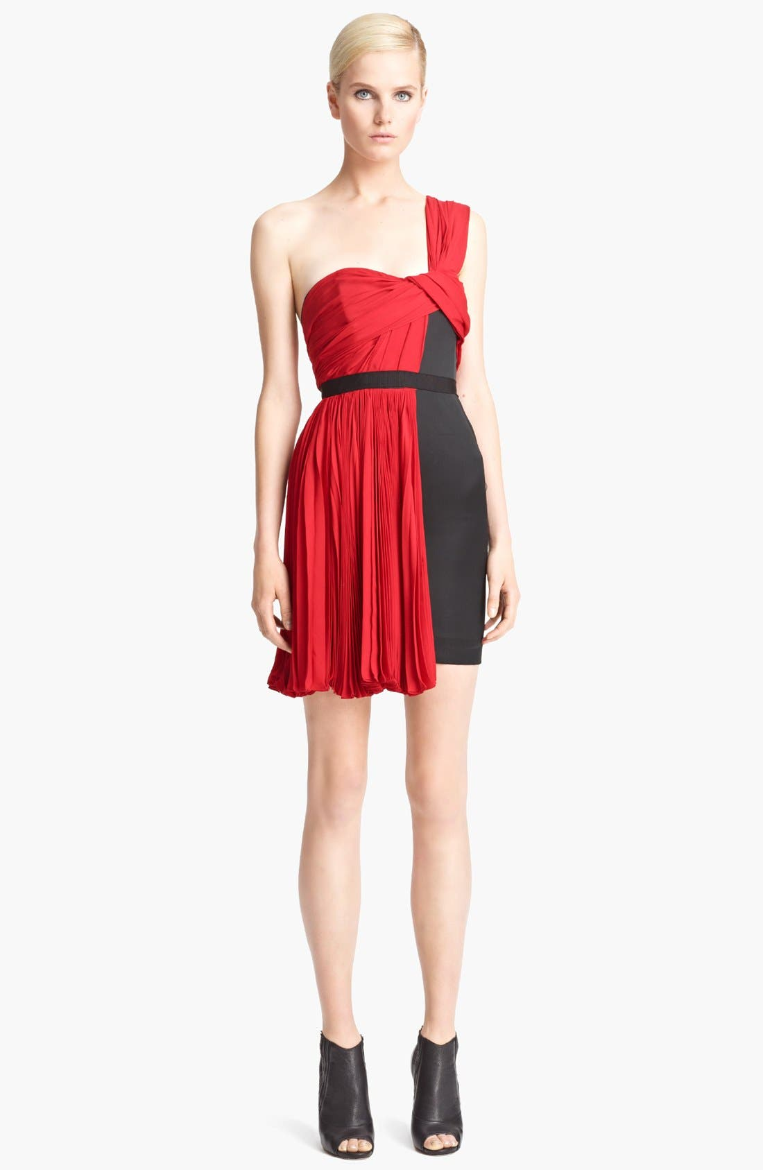 Main Image - Jason Wu One Shoulder Pleated Dress