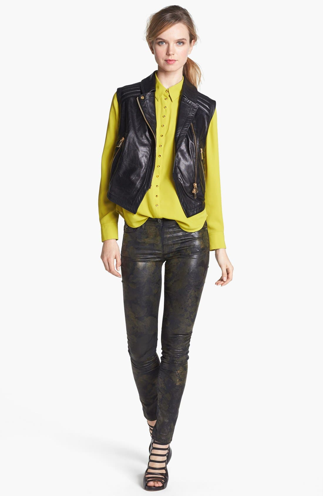 Alternate Image 6  - Two by Vince Camuto Coated Print Skinny Jeans