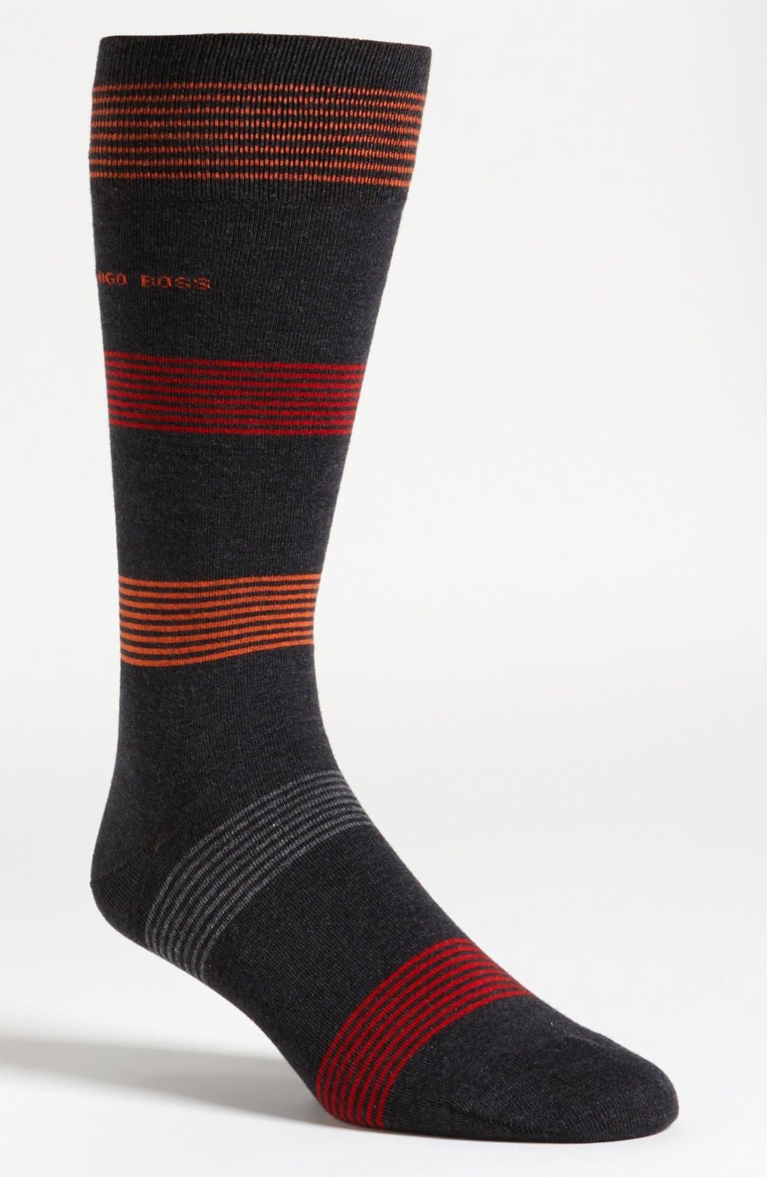 Alternate Image 1 Selected - BOSS Black 'RS Design' Socks