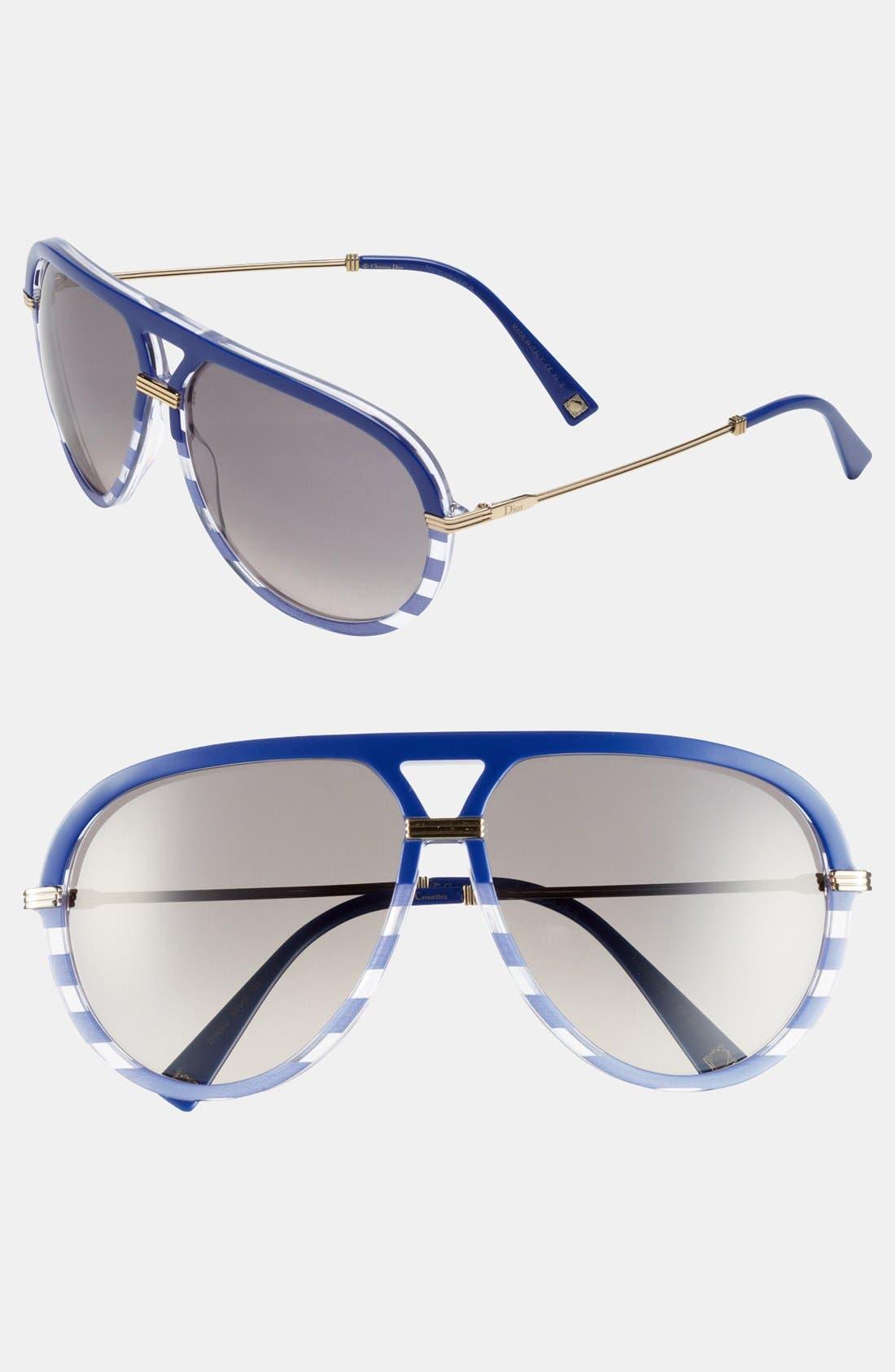 Main Image - Dior 'Croisette 2' Aviator Sunglasses
