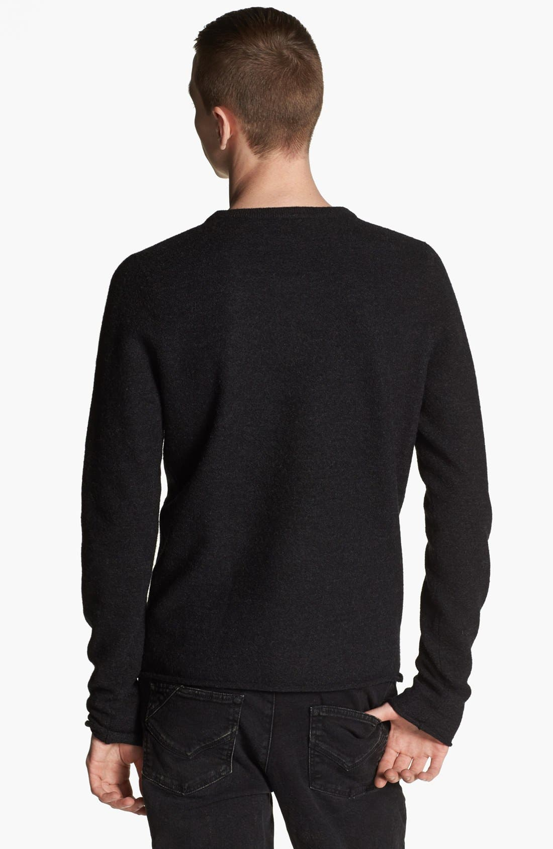 Alternate Image 2  - Zadig & Voltaire Skull Embroidered V-Neck Sweater