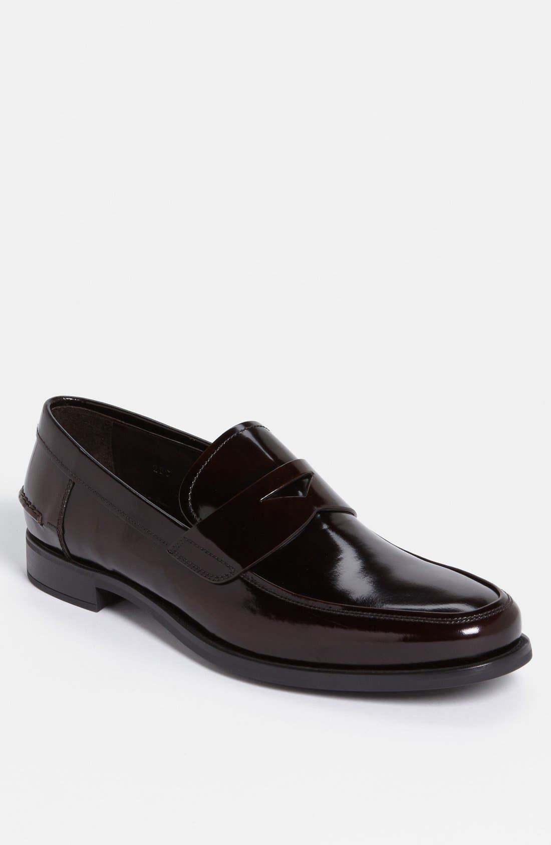 Penny Loafer,                             Main thumbnail 1, color,                             Bruciato