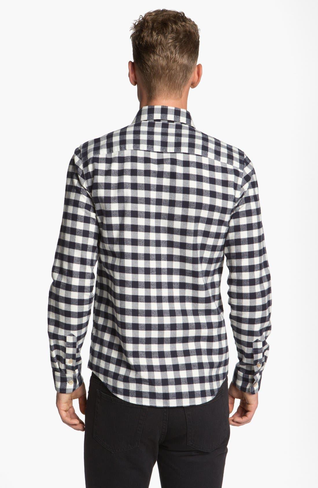 Alternate Image 2  - A.P.C. Check Cotton Flannel Shirt