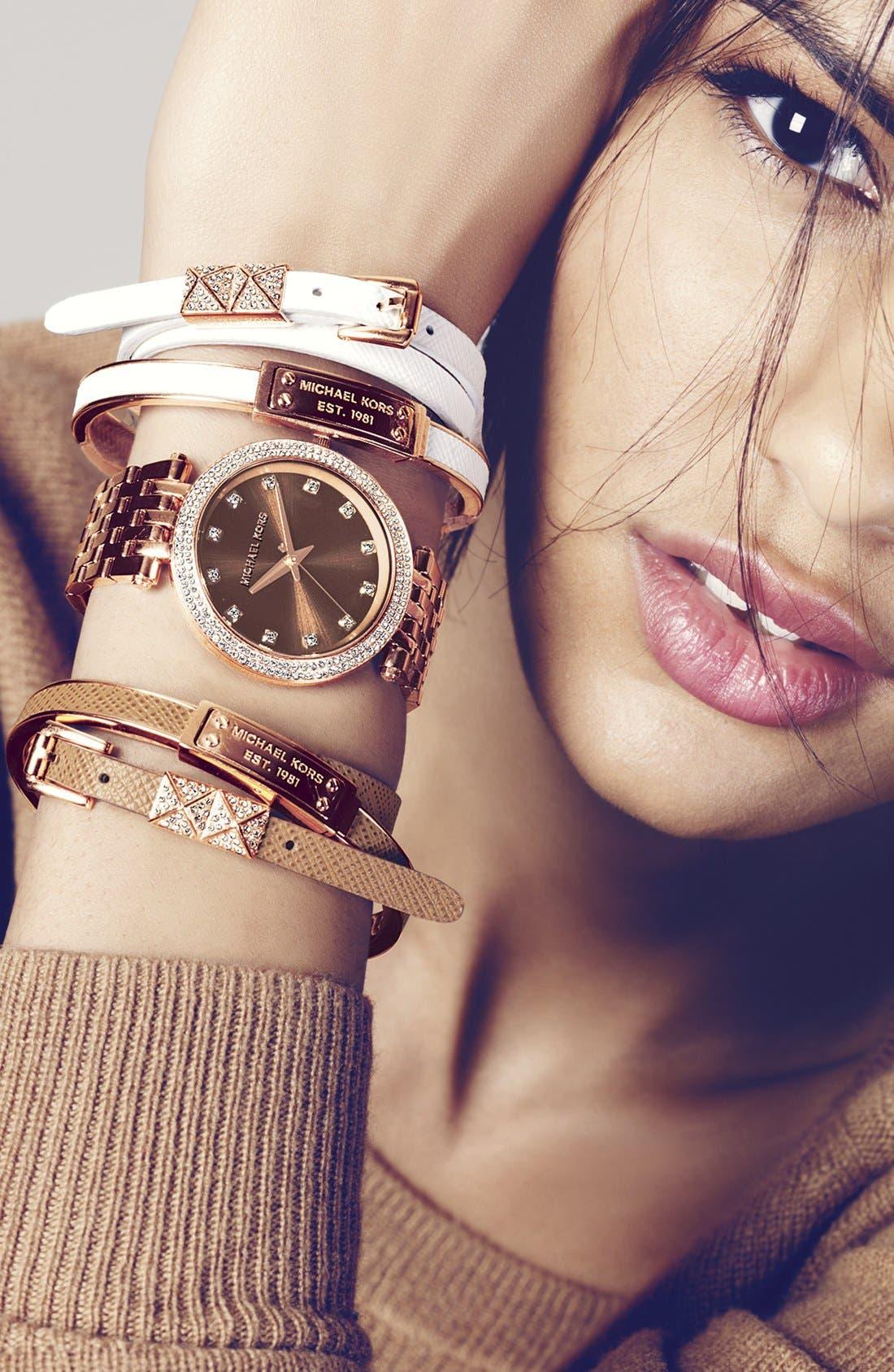Alternate Image 4  - Michael Kors 'Darci' Crystal Bezel Bracelet Watch, 39mm