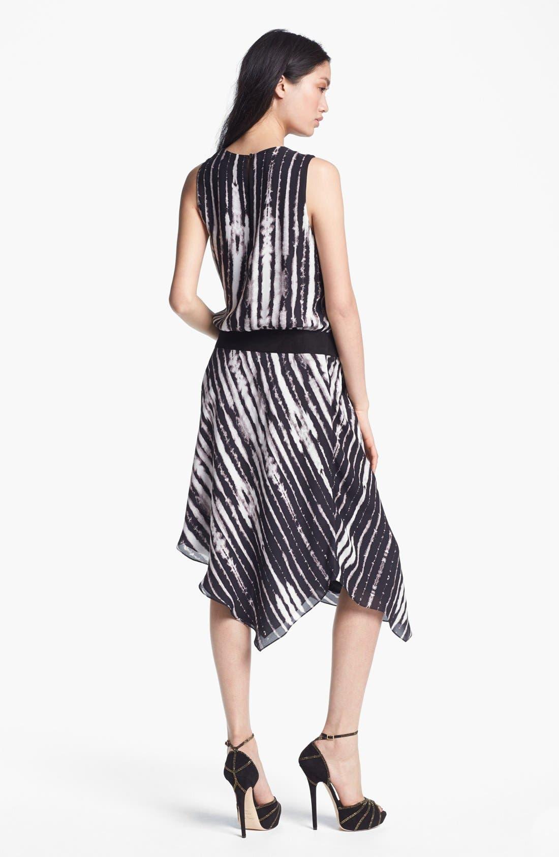Alternate Image 2  - Haute Hippie Belted Print Silk Dress