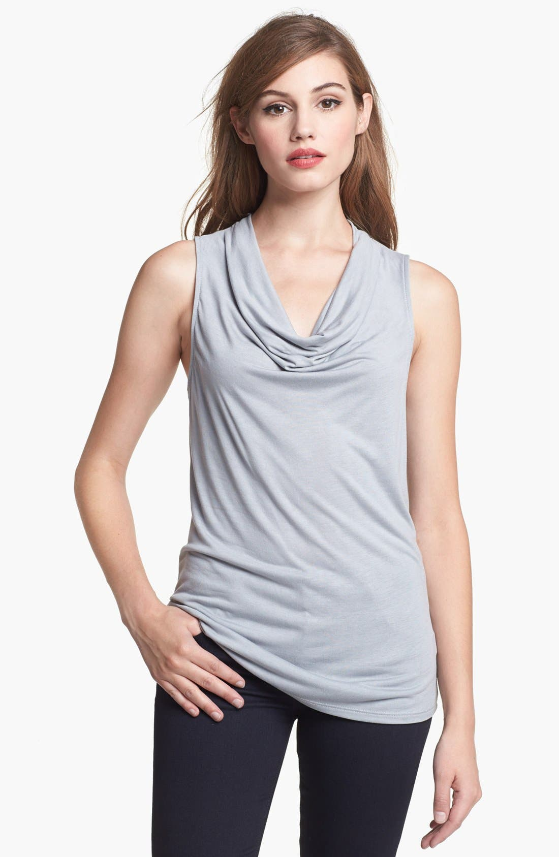Alternate Image 1 Selected - Olivia Moon Drape Neck Sleeveless Top
