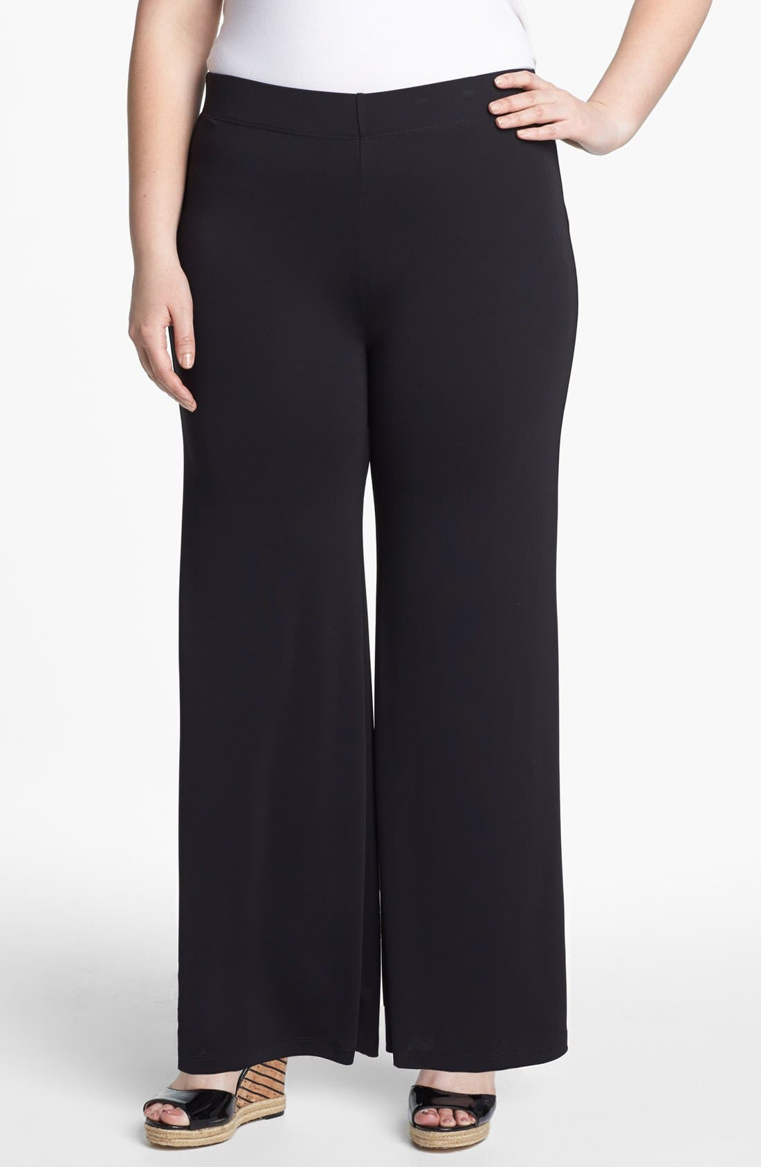 Alternate Image 1 Selected - Evans Wide Leg Pants (Plus Size)