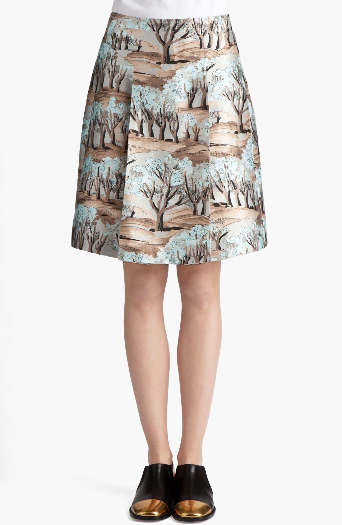 Alternate Image 1 Selected - Marni Forest Print Front Pleat Radzimir Skirt