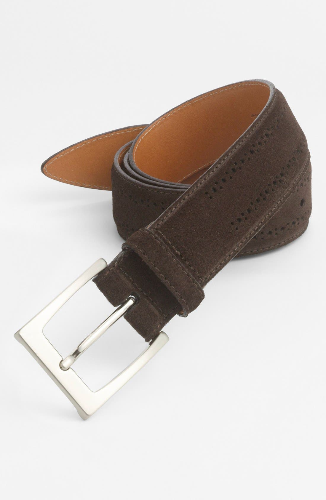 Alternate Image 1 Selected - John W. Nordstrom® Calfskin Suede Belt