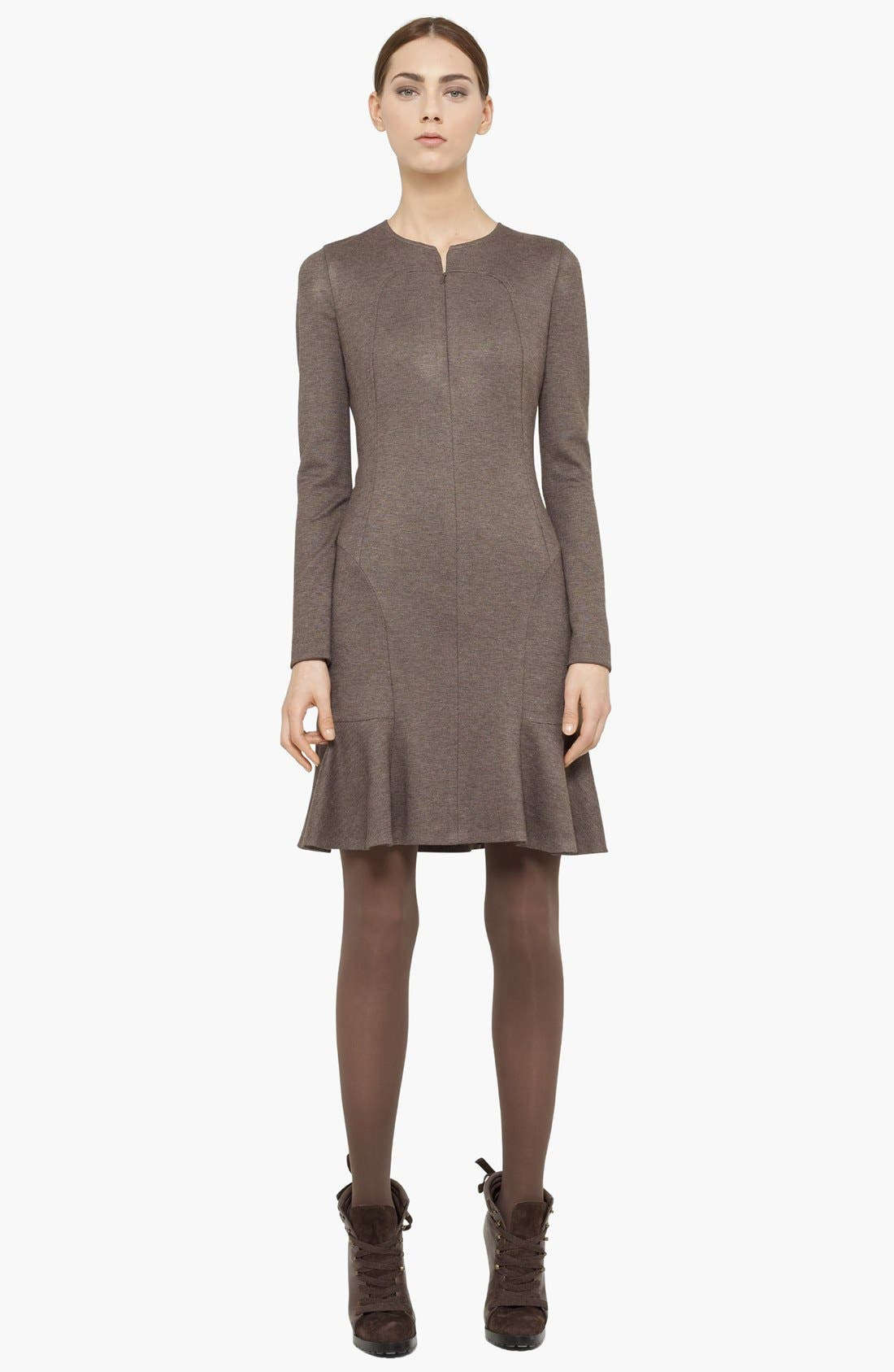 Alternate Image 1 Selected - Akris punto Long Sleeve Stretch Knit Dress