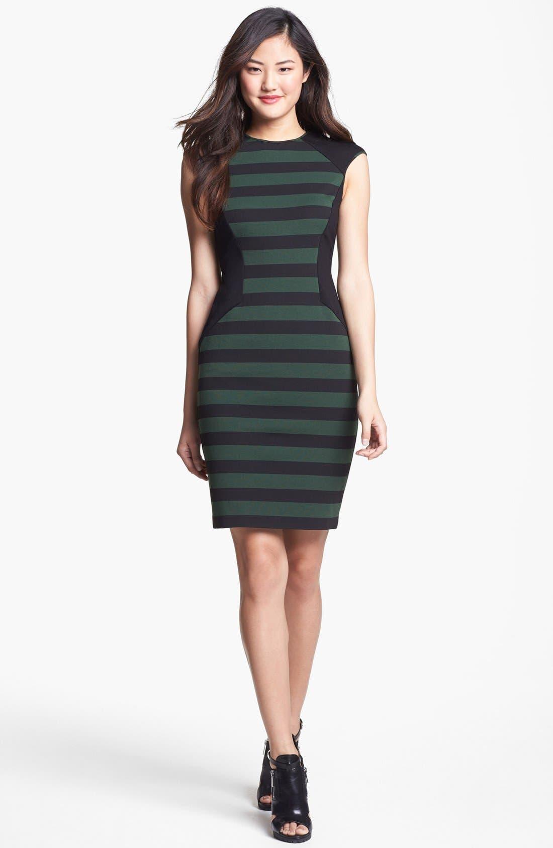 Alternate Image 1 Selected - Vince Camuto Stripe Sheath Dress