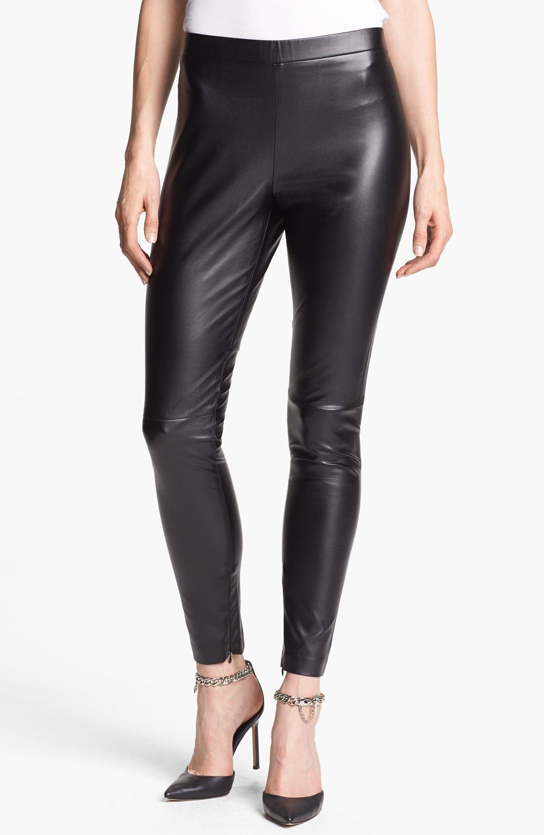 Alternate Image 1 Selected - Vince Camuto Faux Leather Seamed Leggings