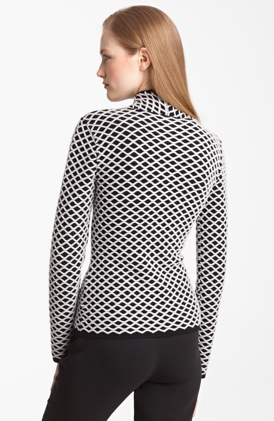 Alternate Image 2  - Armani Collezioni Basket Weave Sweater Jacket