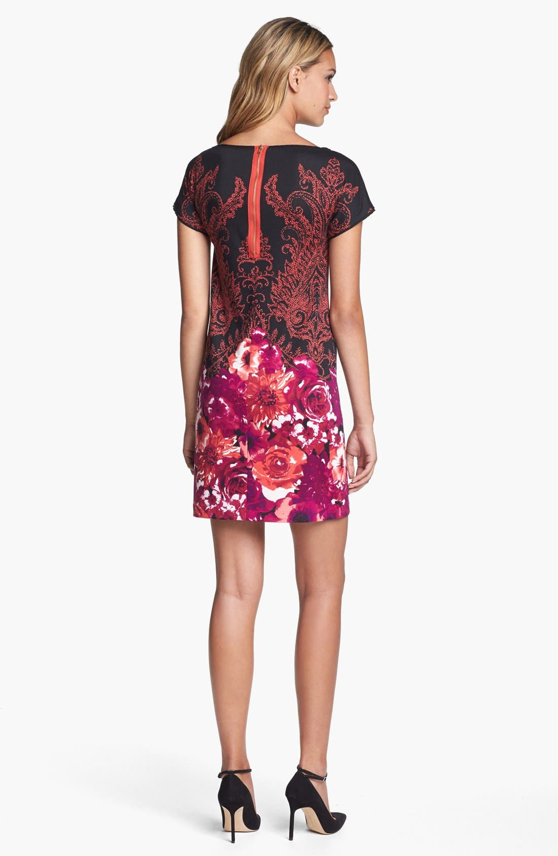 Alternate Image 2  - Maggy London Print Ponte Shift Dress