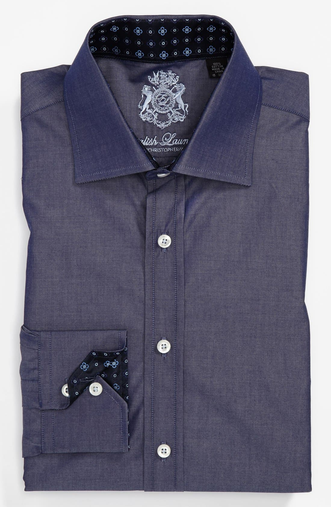 Main Image - English Laundry Trim Fit Dress Shirt (Online Only)