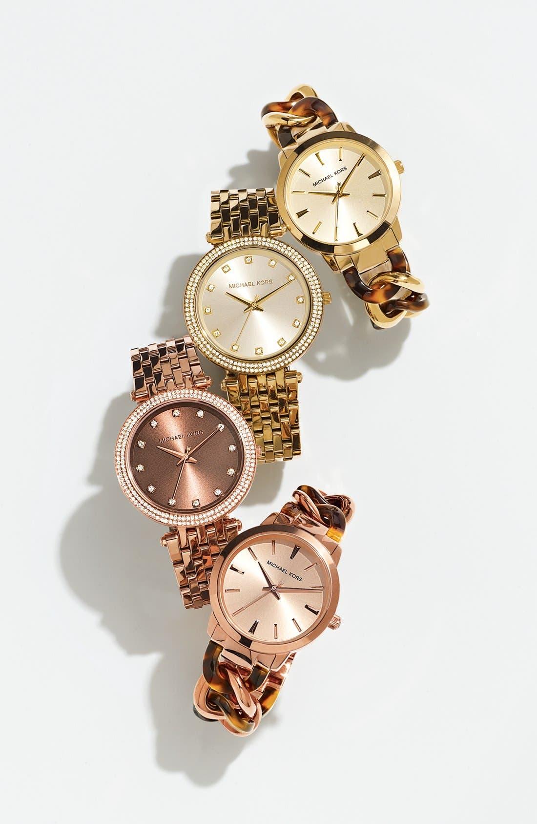 Alternate Image 5  - Michael Kors 'Darci' Crystal Bezel Bracelet Watch, 39mm