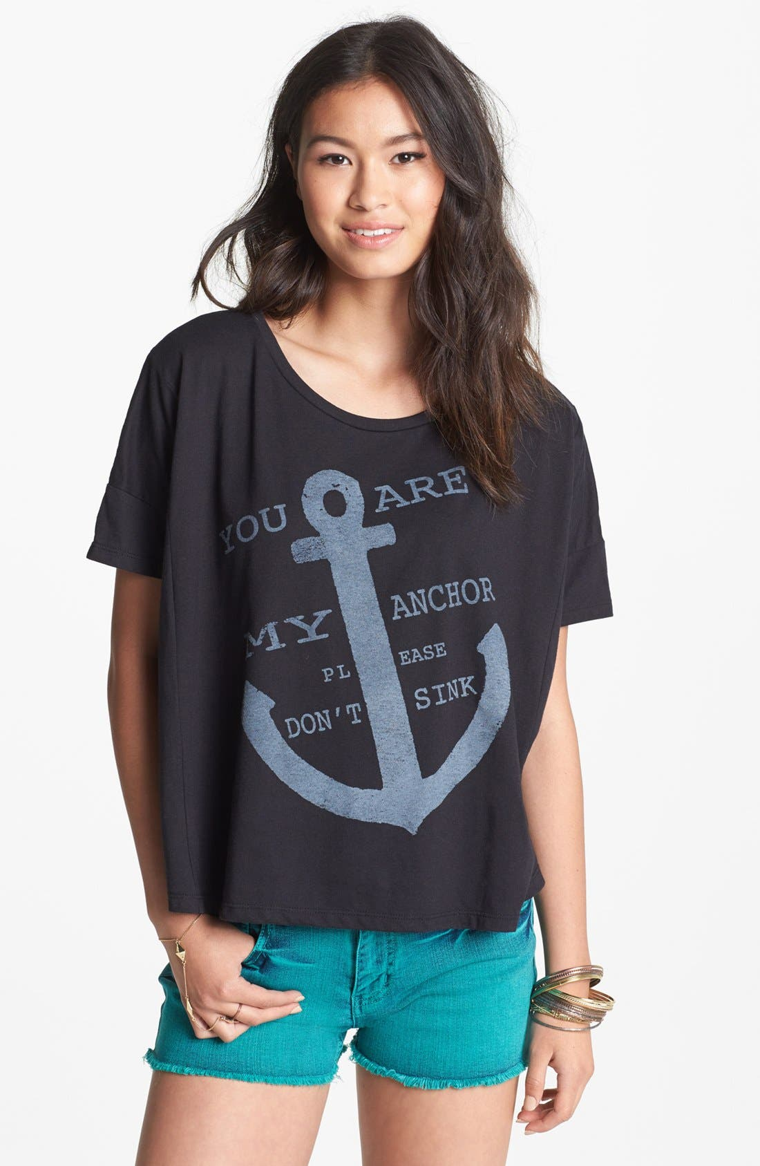 Alternate Image 1 Selected - Malibu Native 'Anchor' Graphic Tee (Juniors)