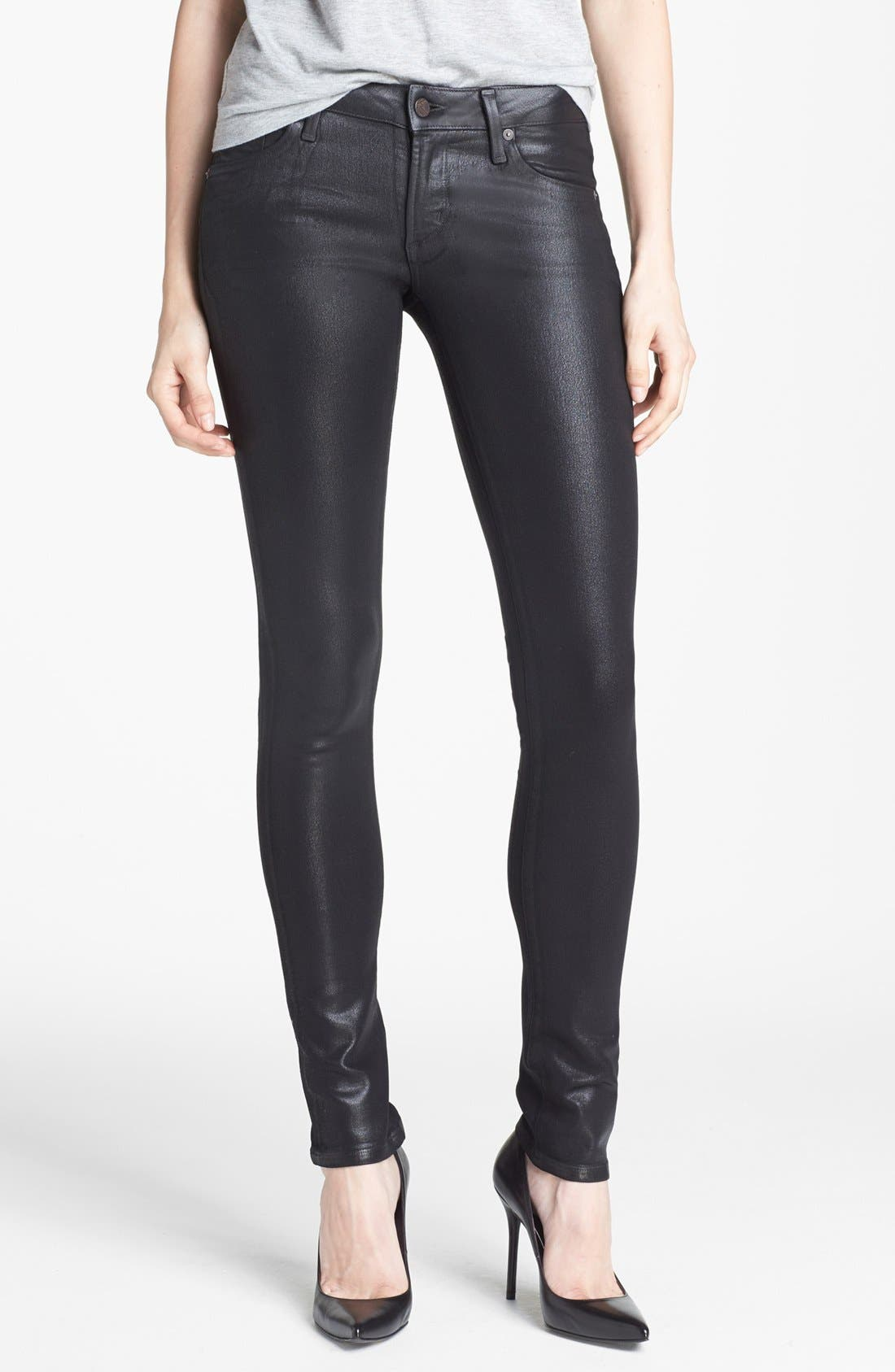 Alternate Image 1 Selected - Citizens of Humanity 'Racer' Low Rise Coated Jeans (Black Coated)