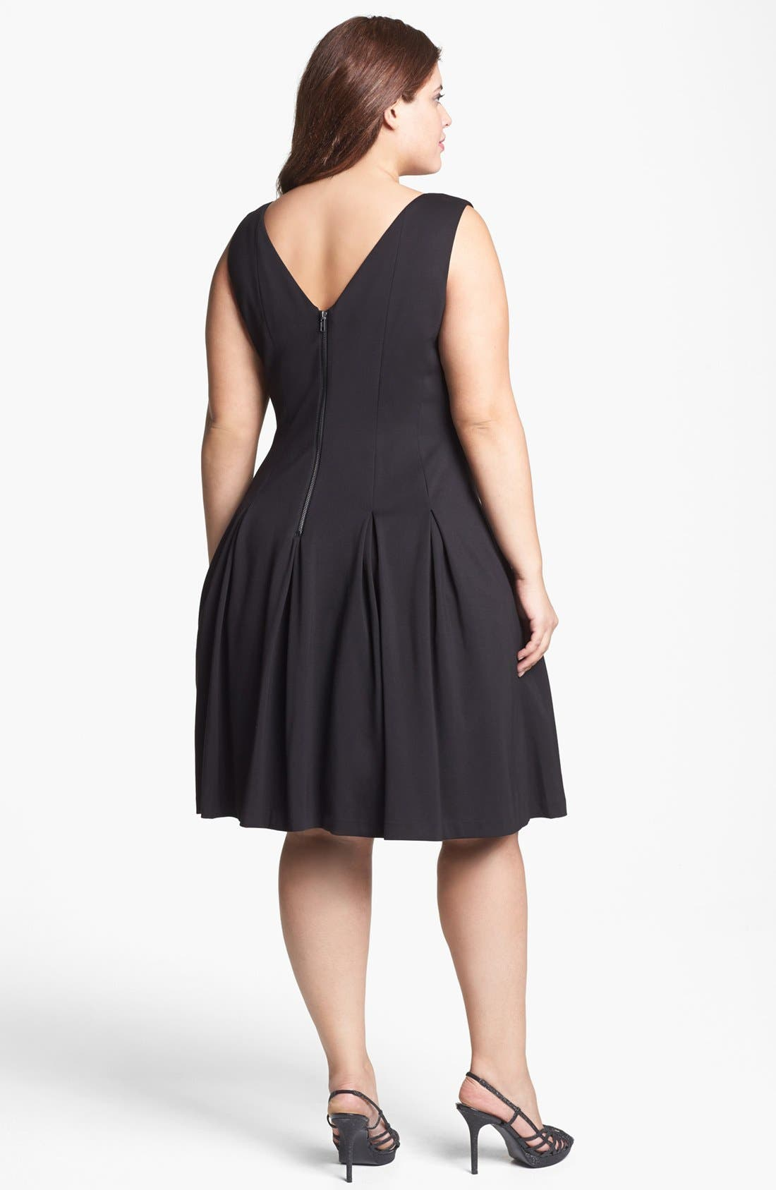 Alternate Image 2  - Adrianna Papell Embellished Double Knit Fit & Flare Dress