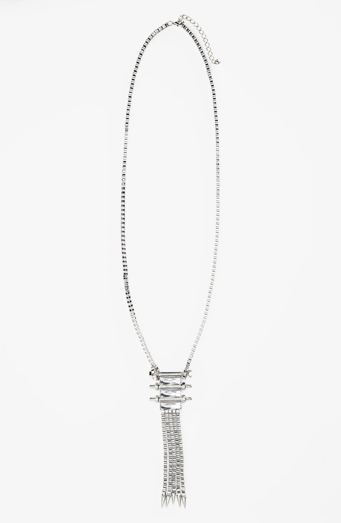 Main Image - Topshop 'Chain & Stone' Necklace
