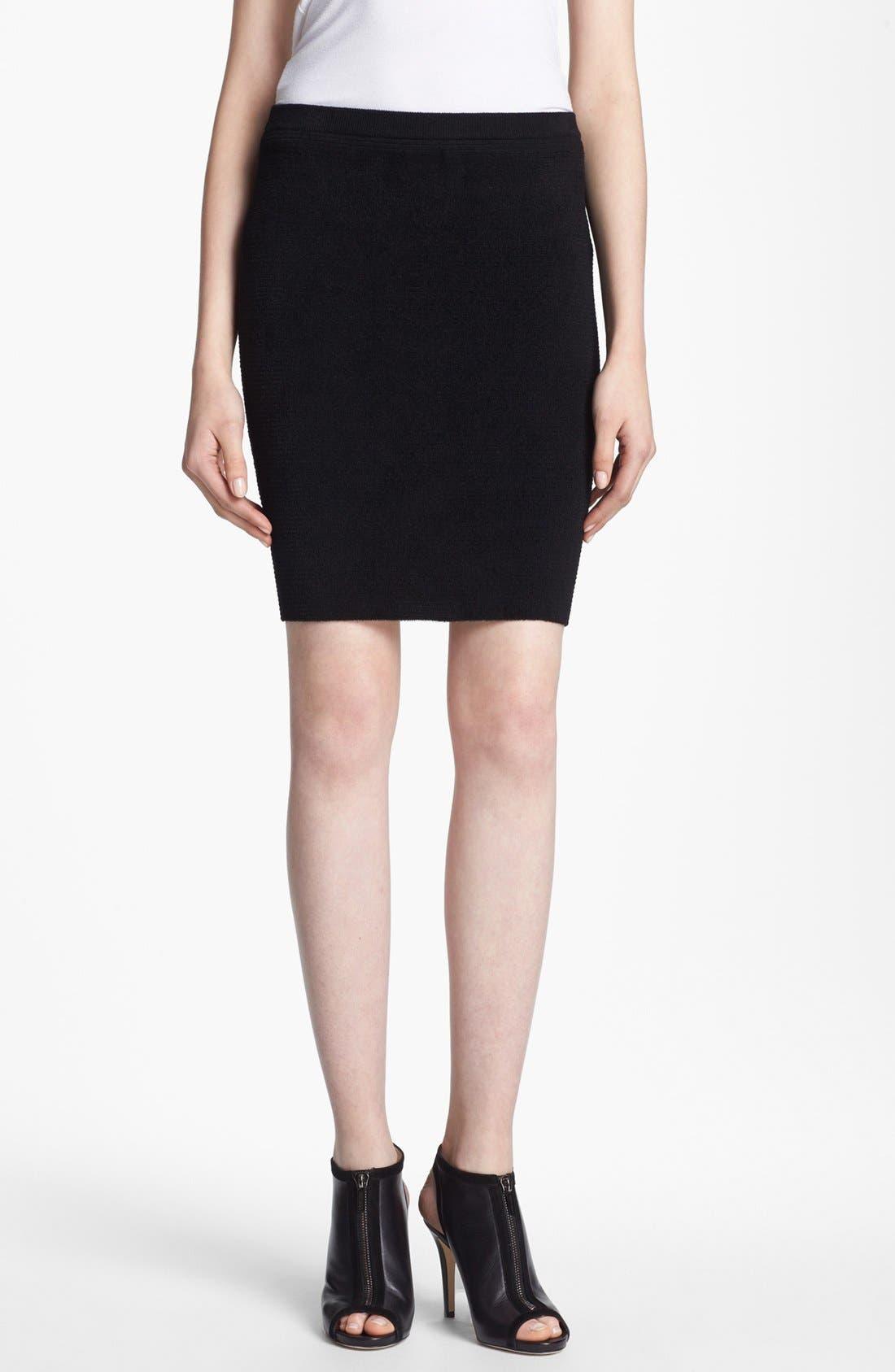 Alternate Image 1 Selected - Alexander Wang Fuzzy Stripe Pencil Skirt