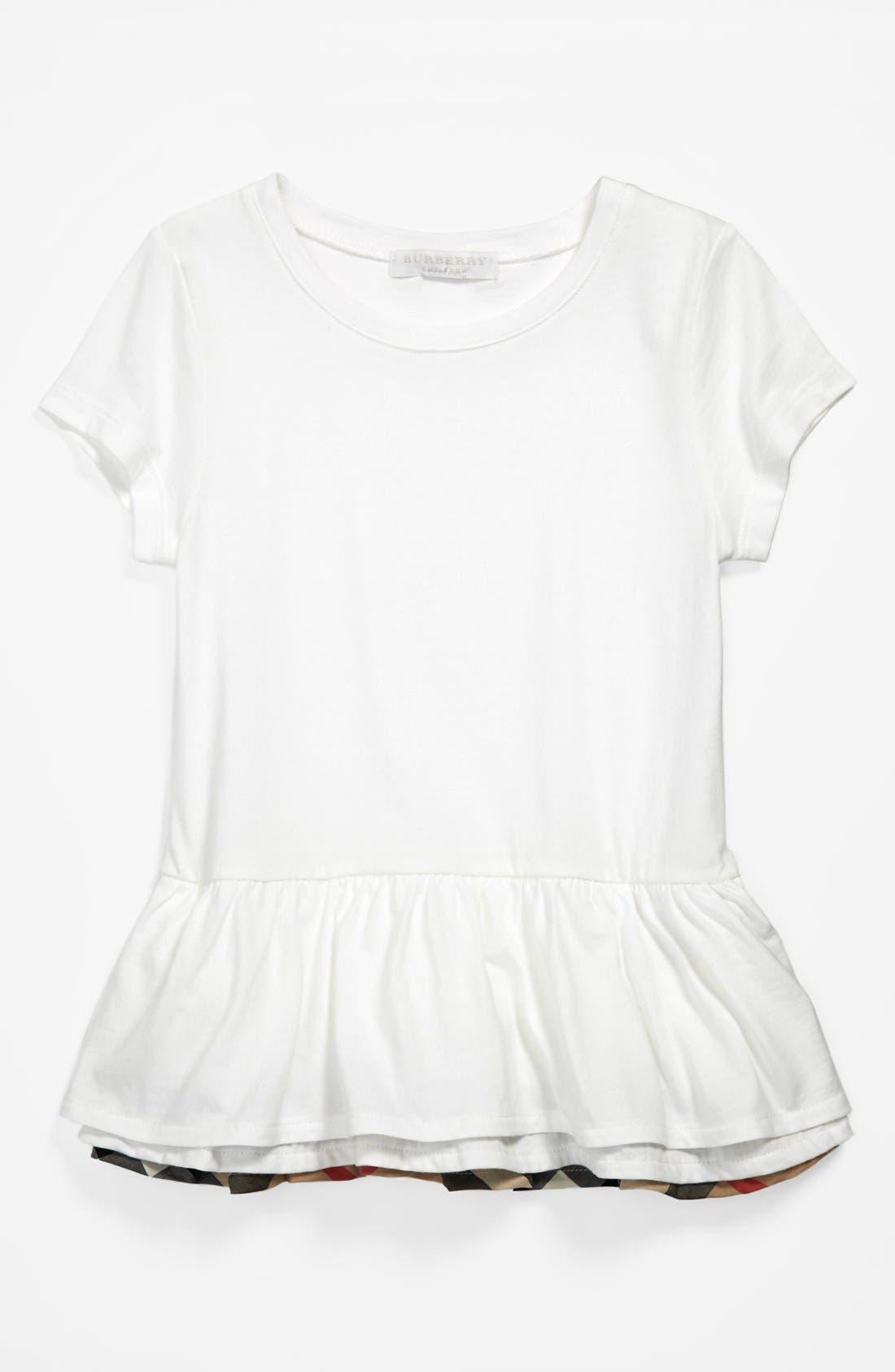 Alternate Image 1 Selected - Burberry 'Tyna' Tiered Ruffle Hem Top (Little Girls & Big Girls)