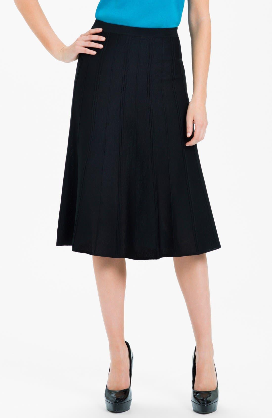 A-Line Skirt,                         Main,                         color, Black