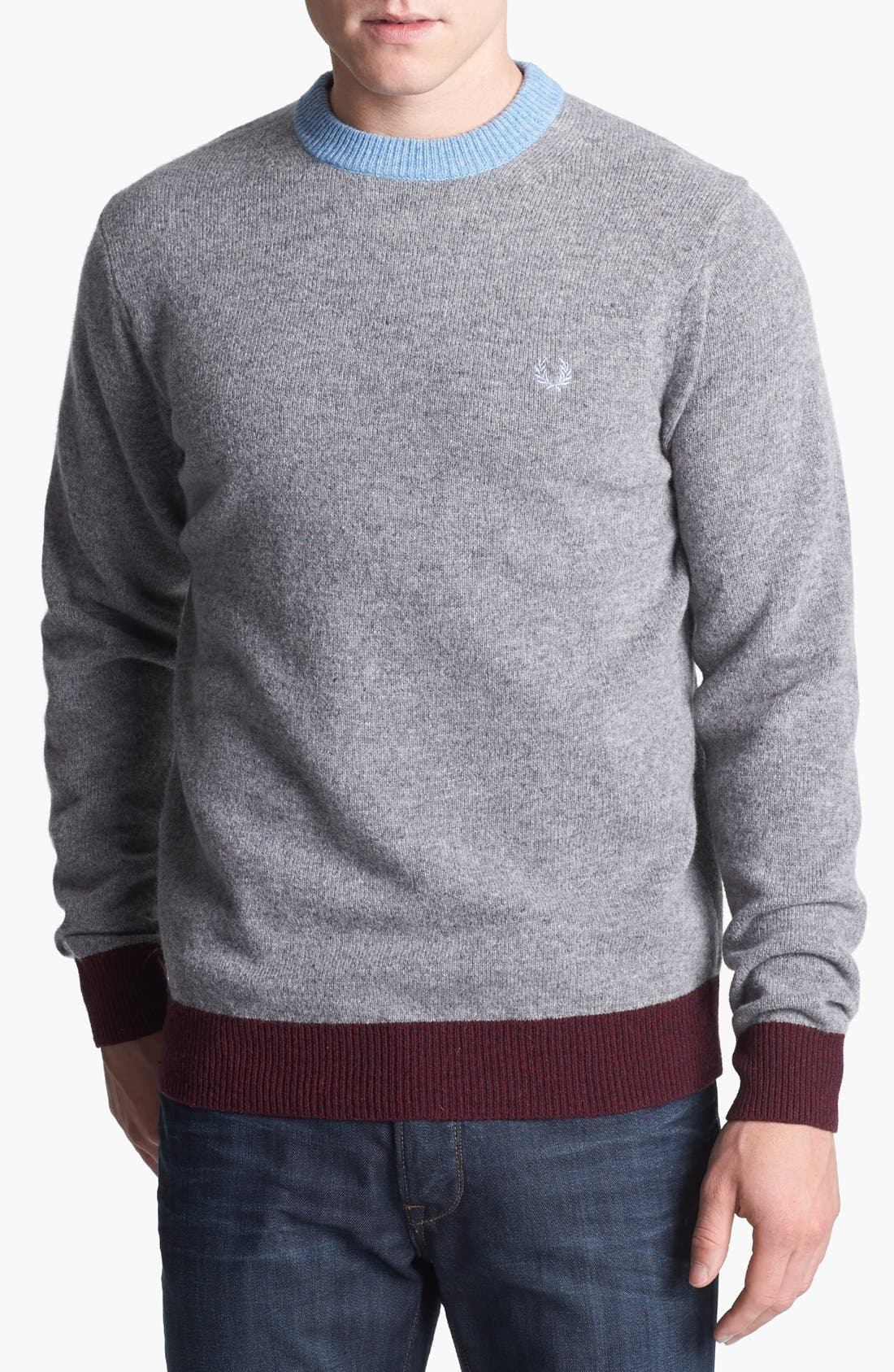 Alternate Image 1 Selected - Fred Perry Contrast Ringer Wool Sweater