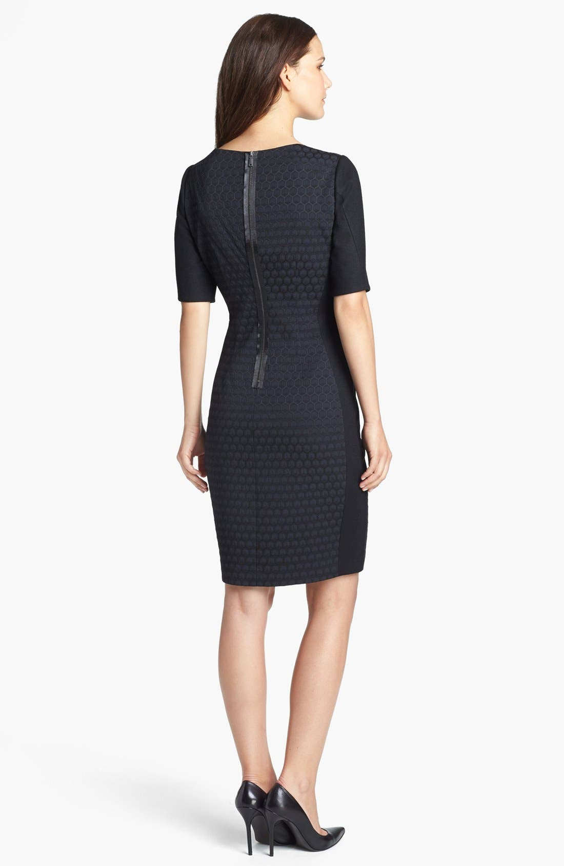 Alternate Image 2  - Elie Tahari 'Mila' Elbow Sleeve Dress