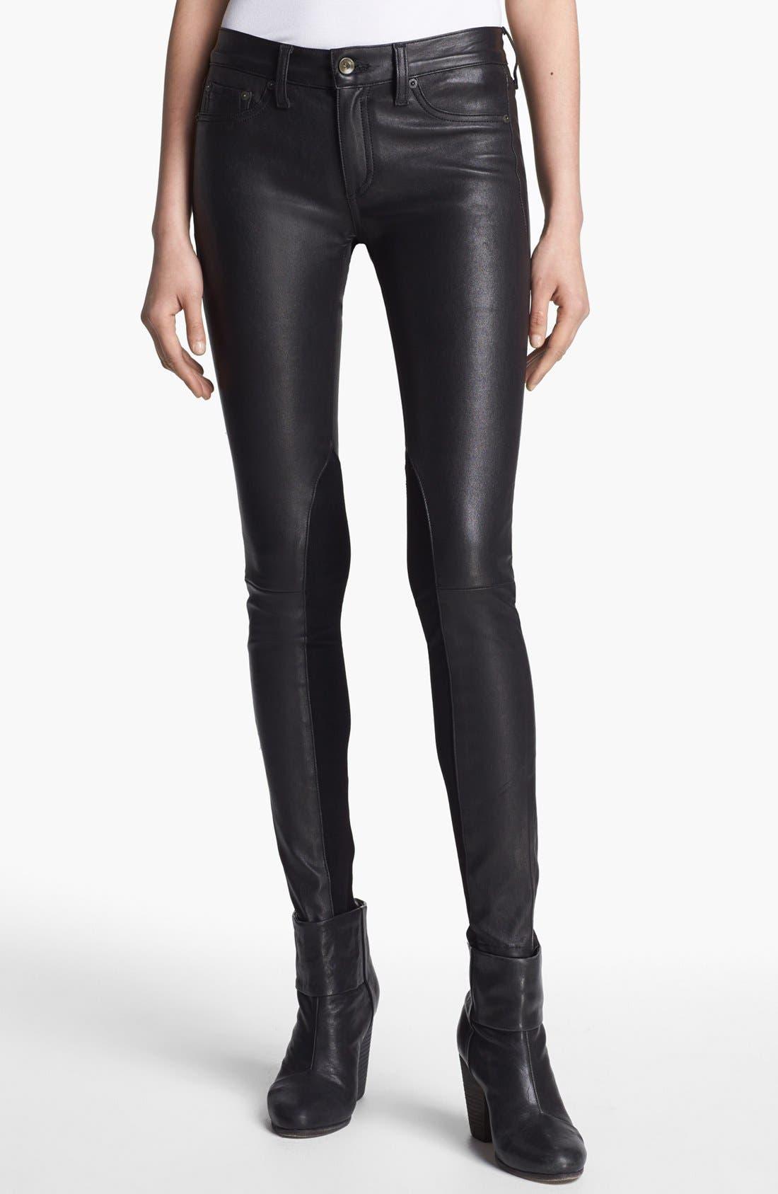 Alternate Image 1 Selected - rag & bone/JEAN 'The Reverse' Leather Pants