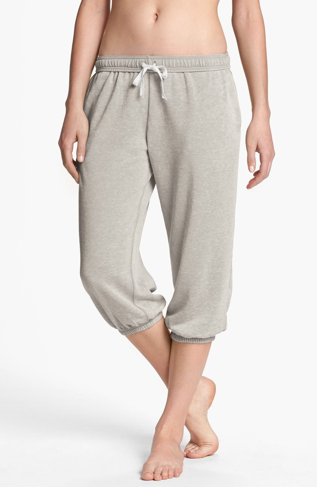 Main Image - BP. Undercover 'Gym Class' Crop Sweatpants (Juniors)