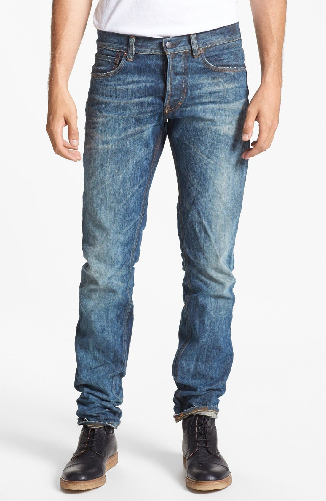 Alternate Image 2  - Gilded Age 'Baxten' Slim Fit Jeans (Blue Rust)