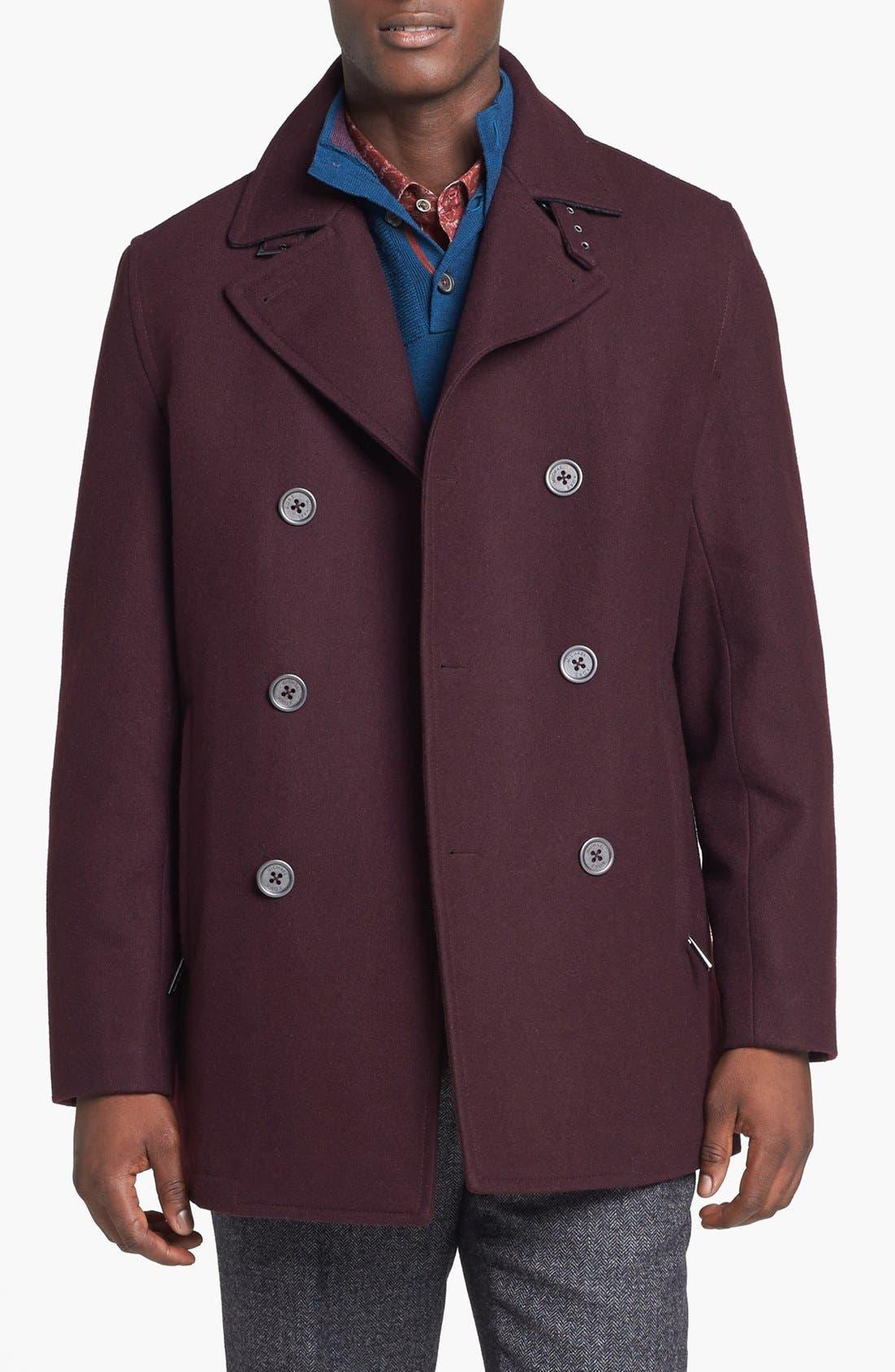 Main Image - Michael Kors 'San Diego' Wool Blend Peacoat (Online Exclusive)